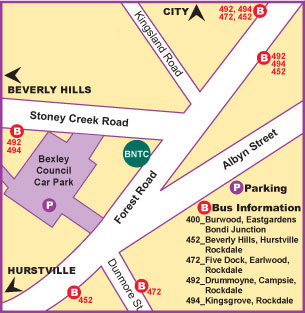 map direction to Bexley Natural Therapies Centre